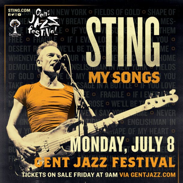 STING is coming to Ghent Jazz Festival!
