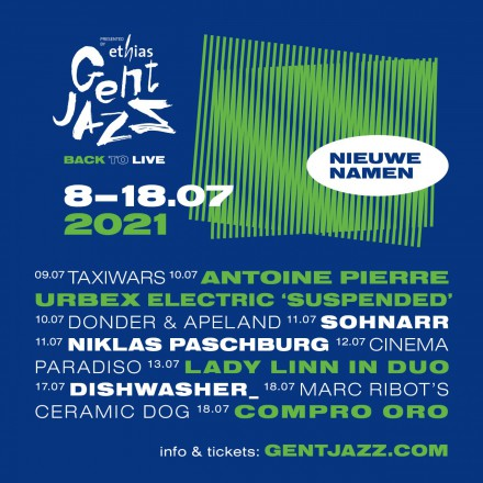 Even more new names for GENT JAZZ: Marc Ribot's Ceramic Dog, TaxiWars, Niklas Paschburg, Lady Linn (duo) and others!